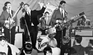 Shock, horror: the Kingsmen performing live, possibly singing Loui Louie.